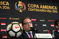 New York, NY - Friday June 24, 2016: CONCACAF president Victor Montagliani during a press conference prior to the final of the Copa America Centenario at The Westin New York at Times Square.<br /> <br /> Photo during American Cup USA 2016 Press Conference The Westin New York at Times Square---- Foto durante la Conferencia de Prensa previo a la gran final de la Copa America Centenario USA 2016, en la foto: Victor Montagliani, Presidente CONCACAF, <br /> ---24/06/2016/MEXSPORT/ David Leah.