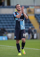Double goalscorer Michael Harriman of Wycombe Wanderers during the Sky Bet League 2 match between Wycombe Wanderers and Hartlepool United at Adams Park, High Wycombe, England on 5 September 2015. Photo by Andy Rowland.