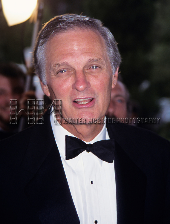 Alan Alda pictured at the Academ of Television Arts and Sciences' Hall of Fame at Walt Disney World, Florida on October 1, 1994.