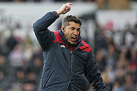 coach Bruno Lage reacts on the touch line during the Premier League game between Swansea City v Chelsea at the Liberty Stadium, Swansea, Wales, UK. Saturday 28 April 2018
