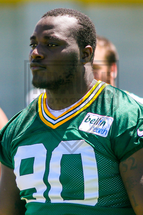 Green Bay Packers defensive tackle Montravius Adams (90) during a minicamp practice on June 15, 2017 at Clarke Hinkle Field in Green Bay, Wisconsin.  (Brad Krause/Krause Sports Photography)
