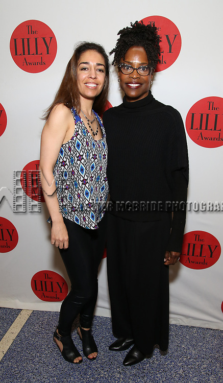 Rona Siddiqui and Charlayne Woodard attends the The Lilly Awards  at Playwrights Horizons on May 22, 2017 in New York City.