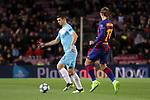 UEFA Champions League 2019/2020.<br /> Matchday 4.<br /> FC Barcelona vs SK Slavia Praha: 0-0.<br /> Ondrej Kudela vs Antoine Griezmann.