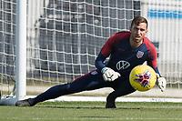 Matt Turner of the United States makes the save