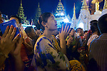 Praying, Festival Of The Moon, Shwedagon Pagoda