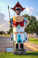 The national route 66 Museum located in elk city Oklahoma is also home to the old town complex which stands as a memorial to the Western Oklahoma Pioneers.