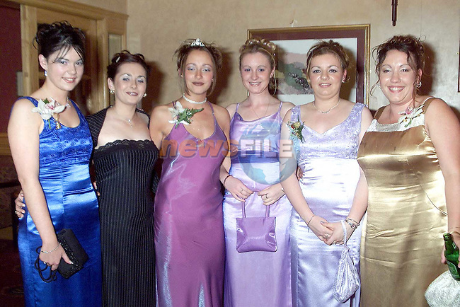 Pauline Judge, Emma Devine, Mary Jane Fitzsimons, Tara Whelan, Sharon Campbell and Elaine Duke at St. Joseph's grad in the Old Darnley Lodge, Athboy..Picture Paul Mohan Newsfile