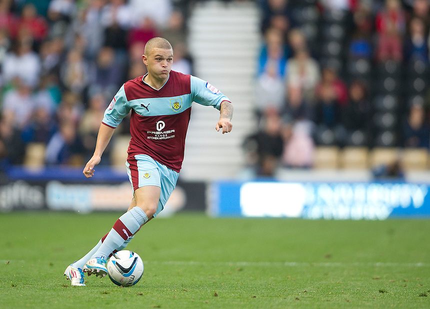 Burnley's Kieran Trippier ..Football - npower Football League Championship - Derby County v Burnley - Saturday 22nd September 2012 - Pride Park - Derby..