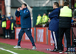 Hibs v St Johnstone...30.01.16   Utilita Scottish League Cup Semi-Final, Tynecastle..<br /> Tommy Wright shouts instructions<br /> Picture by Graeme Hart.<br /> Copyright Perthshire Picture Agency<br /> Tel: 01738 623350  Mobile: 07990 594431