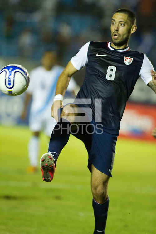 Clint Dempsey tracks down a ball as the United States played Guatemala at Estadio Mateo Flores in Guatemala City, Guatemala in a World Cup Qualifier on Tue. June 12, 2012.
