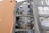 - Corsica, Bastia , houses in the ancient town....- Corsica, Bastia, case della città vecchia