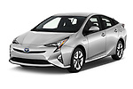 2016 Toyota Prius Three Touring 5 Door Hatchback angular front stock photos of front three quarter view