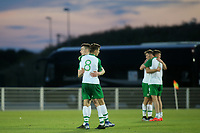 Republic of Ireland players embrace at the final whistle after a hard fought 0-0 against Mexico during Republic Of Ireland Under-21 vs Mexico Under-21, Tournoi Maurice Revello Football at Stade Parsemain on 6th June 2019