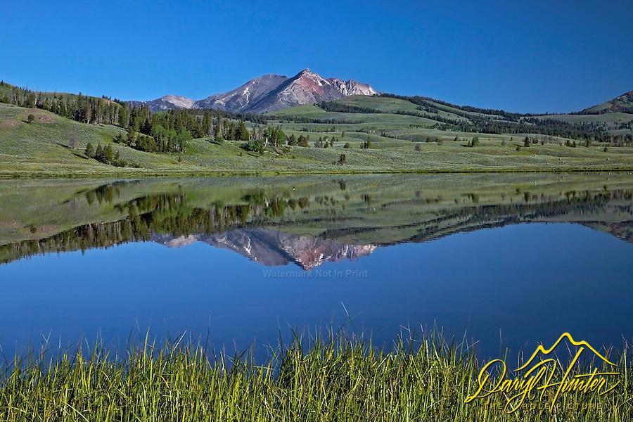 Swan Lake Reflection, Gallatin Mountains, Yellowstone National Park
