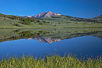 Swan Lake Reflection, Gallatin Mountains, Yellowstone National Park