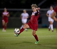 Lori Lindsey (6) of the Washington Spirit takes control of the ball at the Maryland SoccerPlex in Boyds, MD. The Washington Spirit tied FC Kansas City, 1-1.