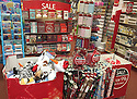 """21/08/2016<br /> <br /> Could this be the first Christmas display in the UK?<br /> <br /> This card shop might get a """"frosty"""" reception to its special festive offers on display but """"yule"""" be sorry if you miss out as there, in fact, are just 126 sleeps left until  the big day!<br /> <br /> Clintons Cards, in Ashbourne, Derbyshire, is offering special deals on Christmas themed wrapping paper, gifts and cards.<br /> <br /> All Rights Reserved: F Stop Press Ltd. +44(0)1773 550665  www.fstoppress.com"""