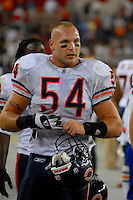 Oct. 16, 2006; Glendale, AZ, USA; Chicago Bears linebacker (54) Brian Urlacher against the Arizona Cardinals at University of Phoenix Stadium in Glendale, AZ. Mandatory Credit: Mark J. Rebilas