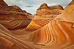 The Wave rock formation in North Coyote Buttes, Arizona