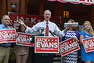 June 8, 2013  (Washington, DC)  D.C. Council member Jack Evans announcing his run for Mayor during a news conference.  (Photo by Don Baxter/Media Images International)