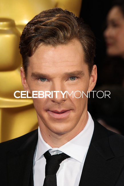 HOLLYWOOD, LOS ANGELES, CA, USA - MARCH 02: Benedict Cumberbatch at the 86th Annual Academy Awards held at Dolby Theatre on March 2, 2014 in Hollywood, Los Angeles, California, United States. (Photo by Xavier Collin/Celebrity Monitor)