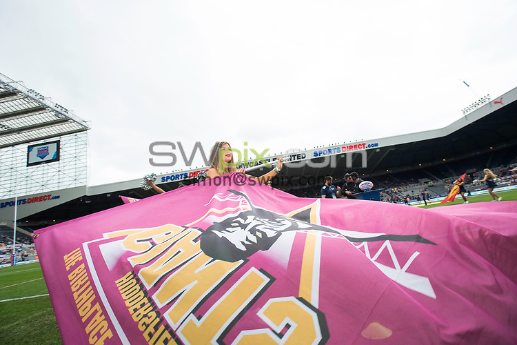 Picture by Allan McKenzie/SWpix.com - 21/05/2017 - Rugby League - Dacia Magic Weekend - Huddersfield Giants v Catalan Dragons - St James' Park, Newcastle, England - The brief, Rockettes.