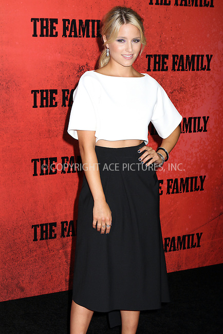 WWW.ACEPIXS.COM<br /> <br /> September 10, 2013 New York City<br /> <br /> Dianna Agron attending the World Premiere of &quot;The Family&quot; in New York City on September 10, 2013. <br /> <br /> By Line: Nancy Rivera/ACE Pictures<br /> <br /> <br /> ACE Pictures, Inc.<br /> tel: 646 769 0430<br /> Email: info@acepixs.com<br /> www.acepixs.com