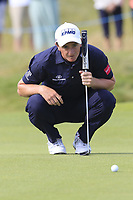 Paul Dunne (IRL) on the 14th green during Thursday's Round 1 of the Dubai Duty Free Irish Open 2019, held at Lahinch Golf Club, Lahinch, Ireland. 4th July 2019.<br /> Picture: Eoin Clarke | Golffile<br /> <br /> <br /> All photos usage must carry mandatory copyright credit (© Golffile | Eoin Clarke)