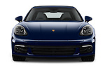 Car photography straight front view of a 2018 Porsche Panamera 4 E-Hybrid 4 Door Sedan