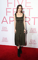 LOS ANGELES, CA - MARCH 7: Caitlin Carver, at The Premiere Of Lionsgate's &quot;Five Feet Apart&quot; at The Fox Bruin Theatre in Los Angeles, California on March 7, 2019. <br /> CAP/MPI/SAD<br /> &copy;SAD/MPI/Capital Pictures