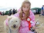 Sarah Hoey and her dog Bonny who won first place at the dog show at the Wee County Fair in Dunleer. Photo: www.pressphotos.ie