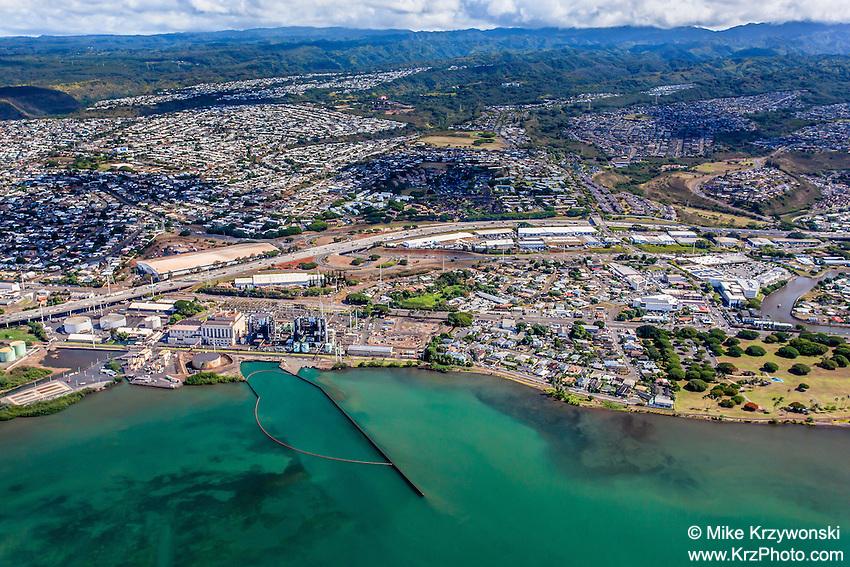 Aerial view of East Loch Pearl Harbor, Pearl City, Oahu
