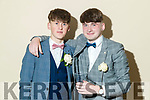 Paudie O'Connor and Dylan O'Connor, pictured at Pobalscoil Inbhear Scéine, Kenmare Debs, held at the Brandon Hotel, Tralee, on Friday night last.