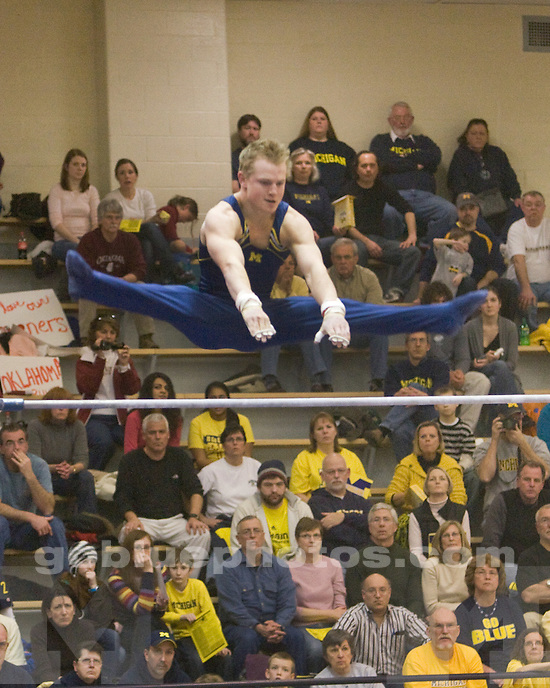 2/20/10 2010 Men's Gymnastics vs. Oklahoma at Cliff Keen  Arena.