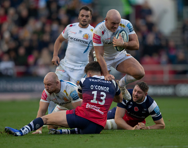 Exeter Chiefs' Jack Yeandle in action during todays match<br /> <br /> Photographer Bob Bradford/CameraSport<br /> <br /> Gallagher Premiership Round 7 - Bristol Bears v Exeter Chiefs - Sunday 18th November 2018 - Ashton Gate - Bristol<br /> <br /> World Copyright © 2018 CameraSport. All rights reserved. 43 Linden Ave. Countesthorpe. Leicester. England. LE8 5PG - Tel: +44 (0) 116 277 4147 - admin@camerasport.com - www.camerasport.com