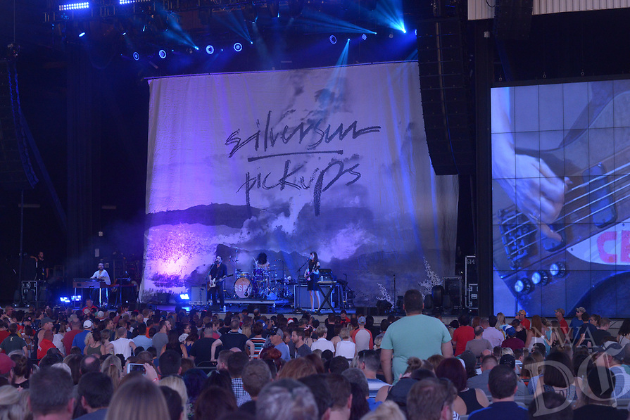 NWA Democrat Gazette/JOCELYN MURPHY<br /> The Silversun Pickups open for Third Eye Blind during their Summer Gods Tour on Wednesday, July 12, 2017 at the Walmart AMP in Rogers.