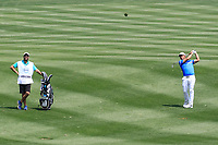 Pablo Larraz&aacute;bal (ESP) in action during the third round of the Volvo China Open played at Topwin Golf and Country Club, Huairou, Beijing, China 26-29 April 2018.<br /> 28/04/2018.<br /> Picture: Golffile | Phil Inglis<br /> <br /> <br /> All photo usage must carry mandatory copyright credit (&copy; Golffile | Phil Inglis)