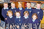 The junior infants class enjoying their first week of school at Gneeveguilla National School were front l-r: Chloe McCarthy, Breda O'Brien, Treasa Cremin, Ella O'Brien. Back l-r: Sean Hurley, Stephen Dalton, Amy Fleming, Darragh O'Sullivan and Alex O'Leary...Teacher Anne O'Sullivan.