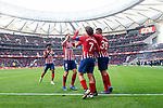 Atletico de Madrid Rodrigo Hernandez, Antoine Griezmann, Francisco Javier Montero, Saul Niguez and Thomas Teye celebrating a goal during La Liga match between Atletico de Madrid and Deportivo Alaves at Wanda Metropolitano in Madrid, Spain. December 08, 2018. (ALTERPHOTOS/Borja B.Hojas)