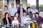40 Rocks<br /> -------------<br /> Liam O'Sullivan, seated centre, from Abbeydorney celebrated his 40th birthday last Saturday evening in the Ballyroe heights hotel, Tralee. Seated L-R Myra, Janice, Anna, Liam, Rory, Ryan&amp; Mike O'Sullivan. Back L-R Noreen&amp;Mike Crean with Joe, Mary and Mike O'Sullivan (snr).