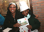 Bukky and Jasmine Oyeku at the Launch of The Fatima Girls NS Cookery Book in the Eastern Seaboard Restaurant. ..Photo NEWSFILE/Jenny Matthews.(Photo credit should read Jenny Matthews/NEWSFILE)....This Picture has been sent you under the condtions enclosed by:.Newsfile Ltd..The Studio,.Millmount Abbey,.Drogheda,.Co Meath..Ireland..Tel: +353(0)41-9871240.Fax: +353(0)41-9871260.GSM: +353(0)86-2500958.email: pictures@newsfile.ie.www.newsfile.ie.FTP: 193.120.102.198.