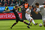 17.03.2019, BayArena, Leverkusen, GER, DFL, 1. BL, Bayer 04 Leverkusen vs SV Werder Bremen, DFL regulations prohibit any use of photographs as image sequences and/or quasi-video<br /> <br /> im Bild v. li. im Zweikampf Lars Bender (#8, Bayer 04 Leverkusen) Ludwig Augustinsson (#5, SV Werder Bremen)  <br /> <br /> Foto © nph/Mauelshagen