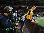 Arsenal's Alexis Sanchez looks on dejected after a missed chance during the Champions League group A match at the Emirates Stadium, London. Picture date September 28th, 2016 Pic David Klein/Sportimage