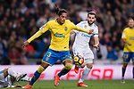 Mauricio Lemos of UD Las Palmas in action during the La Liga 2017-18 match between Real Madrid and UD Las Palmas at Estadio Santiago Bernabeu on November 05 2017 in Madrid, Spain. Photo by Diego Gonzalez / Power Sport Images
