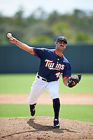 Minnesota Twins pitcher Max Cordy (46) during an Instructional League game against the Boston Red Sox on September 24, 2016 at CenturyLink Sports Complex in Fort Myers, Florida.  (Mike Janes/Four Seam Images)