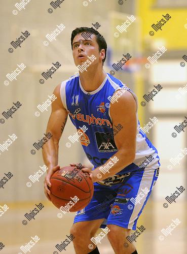 2013-09-10 / Basketbal / seizoen 2013-2014 / Kangoeroes Willebroek / Mitchel Gorremans<br /><br />Foto: Mpics.be
