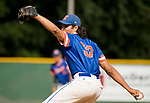 WATERBURY, CT-0712917JS16-- Toronto's Sacha Malhi (33) delivers a pitch during their Mickey Mantle World Series game against Woloctt Saturday at Municipal Stadium in Waterbury. <br /> Jim Shannon Republican-American