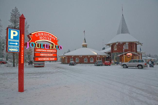 Christmas House at Santa Claus Village near Rovaniemi. Finland