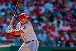 14 April 2018: Washington Nationals first baseman Ryan Zimmerman at bat in the 8th inning against the Colorado Rockies at Nationals Park in Washington, DC. The Nationals rallied to defeat the Rockies 6-2 in the 3rd game of their 4-game series. Mandatory Credit: Ed Wolfstein Photo *** RAW (NEF) Image File Available ***