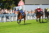Winner of The Saunton Sands Hotel North Devon Maiden Stakes Amplify ridden by Jason Watson and trained by Brain Meehan during Evening Racing at Salisbury Racecourse on 25th May 2019